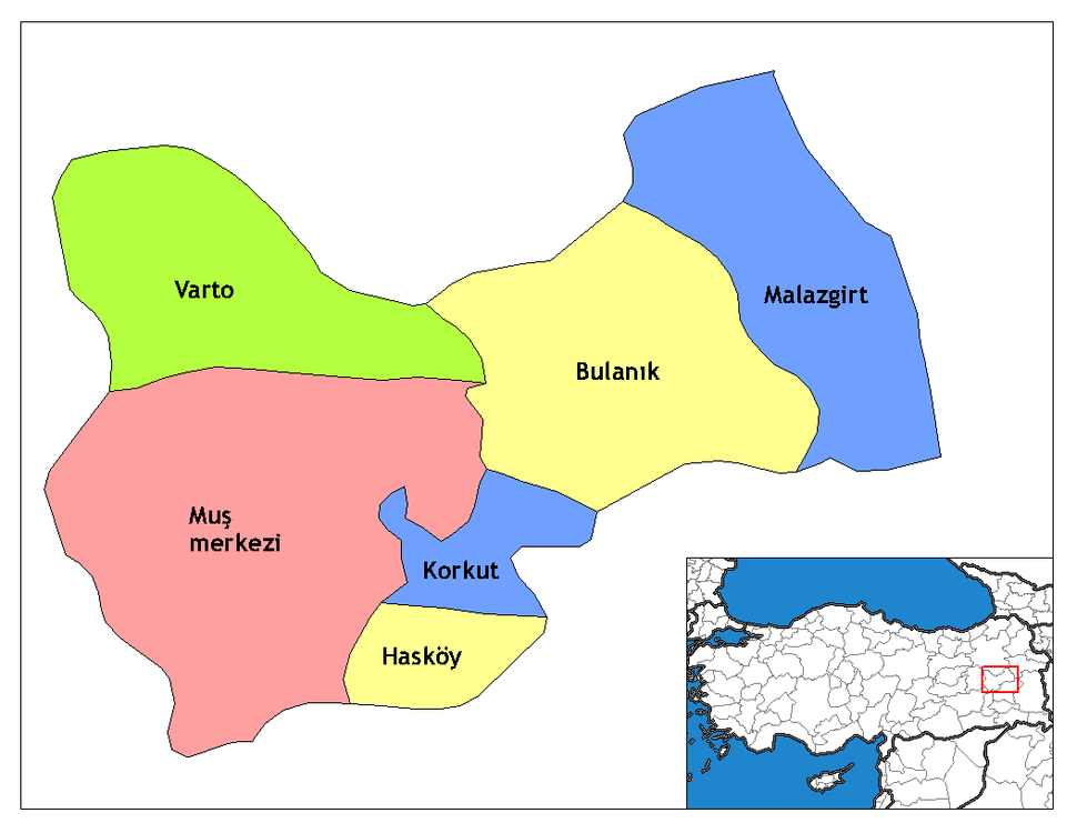 Muş districts