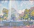 Muenchen Neue Pinakothek van Rysselberghe Fountain in Sanssouci.jpg