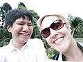 My selfie with American woman at Kebun Raya Bali, Candikuning 01.jpg