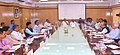 N.K. Singh along with the members, in a meeting with the Union Minister for Railways, Coal, Finance and Corporate Affairs, Shri Piyush Goyal, on opportunities and challenges for Railways, in New Delhi.JPG