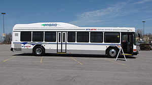 Niagara Frontier Transportation Authority - Image: NFTA Gillig T40 number 1101 2011 04 30