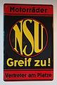 NSU Motorraeder, Enamel advert.JPG