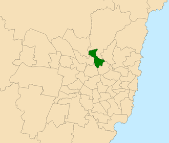Electoral district of Epping - Location within Sydney