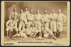 New York Metropolitans - The 1882 New York Metropolitans
