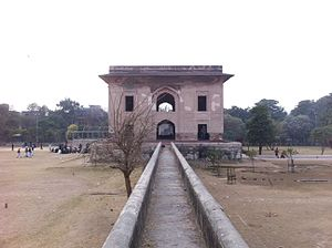 Nadira Banu - Outside view of Nadira Begum's tomb during winter