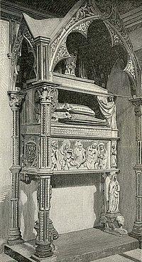 Napoli chiesa di S Chiara monumento ad Agnese e Clemenza D Angio.jpg