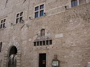 Narni - Façade of the Communal Palace.