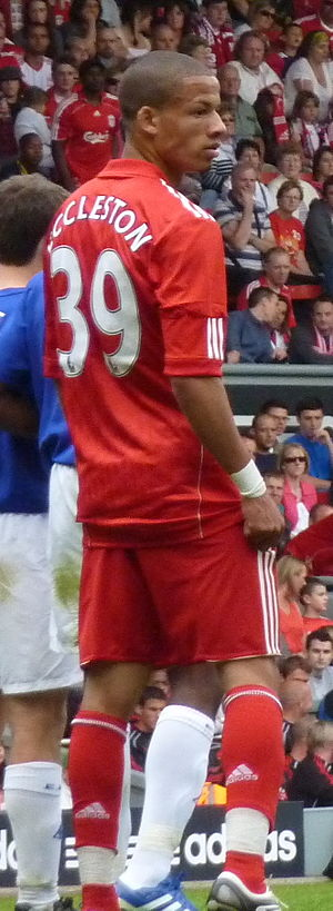 Nathan Eccleston - Eccleston playing for Liverpool in 2010
