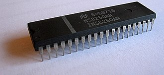 National Semiconductor - The National Semiconductor 8250 UART chip, one of the most prolific and most cloned UART chips due to its presence in the first IBM Personal Computer.