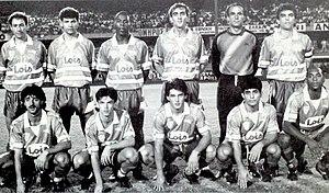 1990–91 European Cup Winners' Cup - Nea Salamis Famagusta FC against Aberdeen F.C. at Tsirion Stadium in Limassol.
