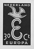 Nederlands Europa zegel 1958, Bestanddeelnr 909-4178.jpg