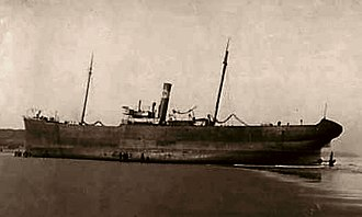 Cory Environmental - SS Nellie Wise aground at Hartlepool in 1908