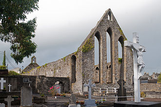 Nenagh - East gable with lancet windows of the Franciscan Friary