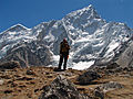 Nepal - Sagamartha Trek - 215 - Me in front of Nuptse (497797417).jpg