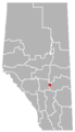 Nevis, Alberta Location.png