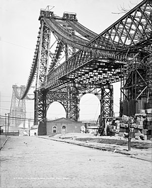 Lewis Nixon (naval architect) - Williamsburg Bridge during construction