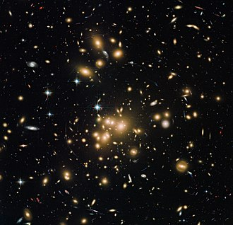 Bautz–Morgan classification - Image: New Hubble view of galaxy cluster Abell 1689