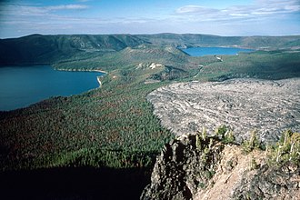 Central Oregon - Newberry caldera at the Newberry National Volcanic Monument.