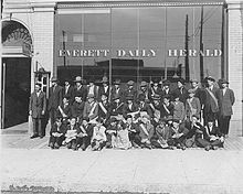 Newsboys for the Everett Daily Herald newspaper, Everett, Washington.jpg
