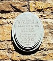 Newton plaque at King's School (cropped).jpg