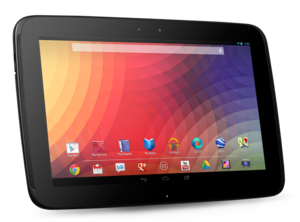 Comparison of Google Nexus tablets - Image: Nexus 10