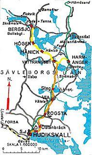 Norra Hälsinglands Järnväg Former railway in Sweden