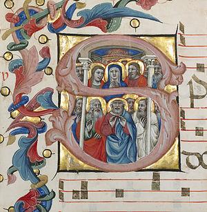 Niccolò da Bologna - Niccolò da Bologna's tempera and gold on parchment, 1394-1402, J. Paul Getty Trust