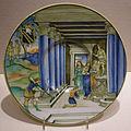 Nicola da urbino, piatto con paride che ferisce achille al tallone, urbino, 1525 circa.JPG