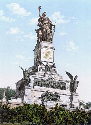 """Die Wacht am Rhein - 1883 Niederwalddenkmal monument: """"Guard on the Rhine"""""""