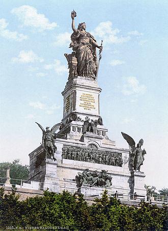 Niederwalddenkmal - The Niederwalddenkmal ca. 1900