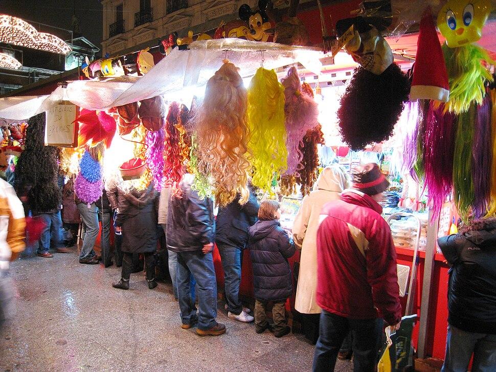 Night market in December, Madrid