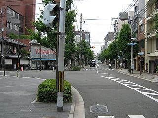 Nijō Street Street in Kyoto city, Japan