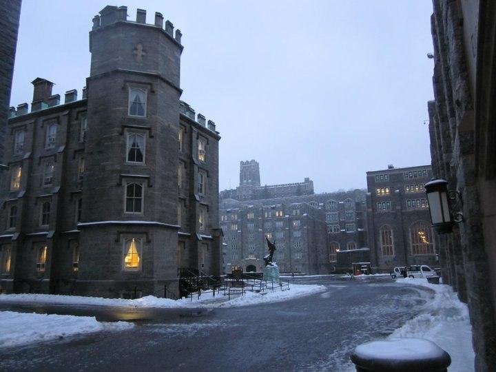 Nininger Hall in winter