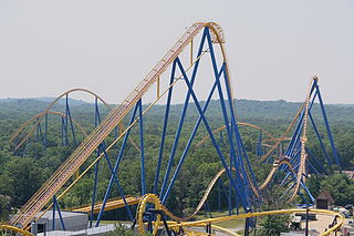 Nitro (Six Flags Great Adventure) steel roller coaster at Six Flags Great Adventure in New Jersey