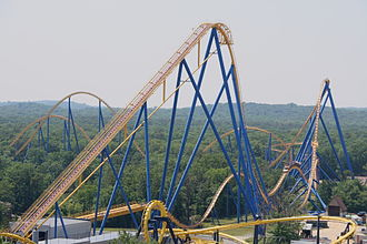 Mega/Hyper coaster: Nitro at Six Flags Great Adventure, a Bolliger & Mabillard out and back coaster. Nitro coaster.jpg