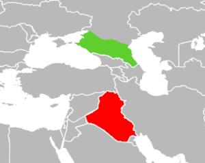 Circassians in Iraq - Image: North Caucasus and Iraq