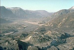 North Fork Toutle River valley in November 1983