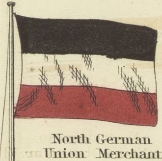 National colours of Germany - North German merchant flag, 1868