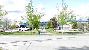 North Surrey Secondary School - Image: North Surrey Secondary 160 Street (entire view)