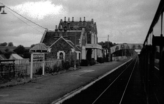 North Tawton - Image: North Tawton railway station, Devon, 1970