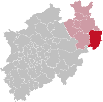 Höxter (district) - Image: North rhine w hx