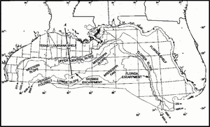 English: Map of northern part of Gulf of Mexic...