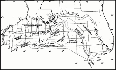 Map of northern part of Gulf of Mexico Northern Gulf of Mexico map.png