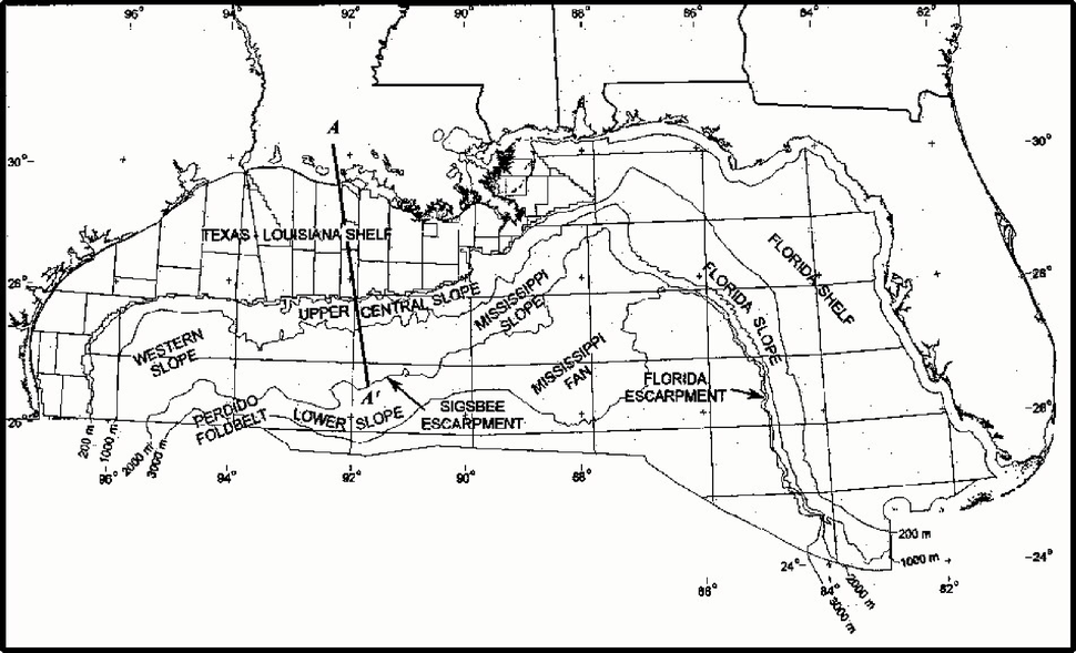 Northern Gulf of Mexico map