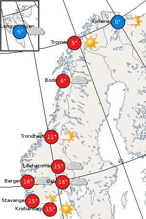 Norwegean weather 5th May 2008
