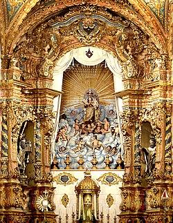 Ret�bulo da Bas�lica de Nossa Senhora do Carmo em Recife, uma das gl�rias do barroco brasileiro