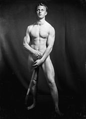 Nude portrait of Mr E H Garland, 1916. Reference Number- 1-1-013963-G.jpg