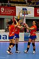 Nuria Benzal, Bea Fernández y Eli Pinedo - Jornada de las Estrellas de Balonmano 2013 - 01.jpg