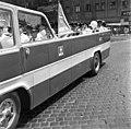 Nyitott Ikarus busz. Budapesti Közlekedési Napok, gépjárművek felvonulása, 1969. Fortepan 89582.jpg