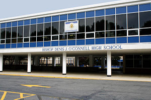 Bishop Denis J. O'Connell High School - O'Connell main driveway and bus port